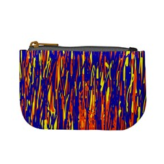 Orange, Blue And Yellow Pattern Mini Coin Purses by Valentinaart