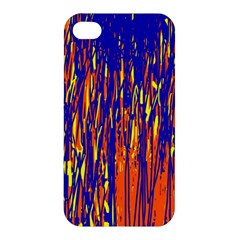 Orange, Blue And Yellow Pattern Apple Iphone 4/4s Hardshell Case by Valentinaart