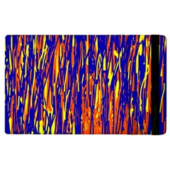 Orange, Blue And Yellow Pattern Apple Ipad 2 Flip Case by Valentinaart