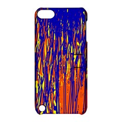 Orange, Blue And Yellow Pattern Apple Ipod Touch 5 Hardshell Case With Stand by Valentinaart