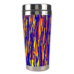Orange, Blue And Yellow Pattern Stainless Steel Travel Tumblers