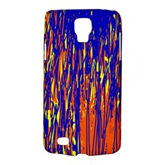 Orange, Blue And Yellow Pattern Galaxy S4 Active by Valentinaart