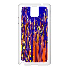 Orange, Blue And Yellow Pattern Samsung Galaxy Note 3 N9005 Case (white) by Valentinaart