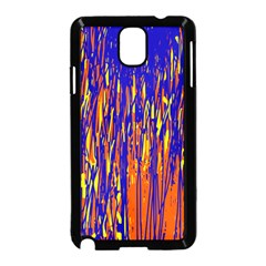 Orange, Blue And Yellow Pattern Samsung Galaxy Note 3 Neo Hardshell Case (black) by Valentinaart