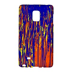 Orange, Blue And Yellow Pattern Galaxy Note Edge by Valentinaart