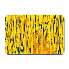 Yellow Pattern Small Doormat  by Valentinaart