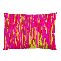 Pink And Yellow Pattern Pillow Case (two Sides) by Valentinaart