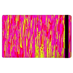Pink And Yellow Pattern Apple Ipad 3/4 Flip Case by Valentinaart