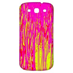 Pink And Yellow Pattern Samsung Galaxy S3 S Iii Classic Hardshell Back Case by Valentinaart