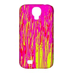 Pink And Yellow Pattern Samsung Galaxy S4 Classic Hardshell Case (pc+silicone) by Valentinaart