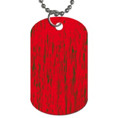 Decorative Red Pattern Dog Tag (two Sides)