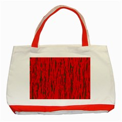 Decorative Red Pattern Classic Tote Bag (red) by Valentinaart