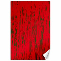 Decorative Red Pattern Canvas 20  X 30   by Valentinaart