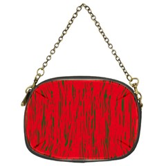 Decorative Red Pattern Chain Purses (two Sides)  by Valentinaart