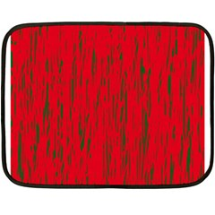 Decorative Red Pattern Double Sided Fleece Blanket (mini)  by Valentinaart