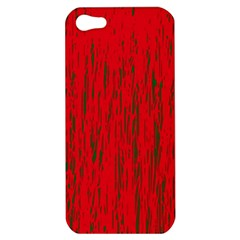 Decorative Red Pattern Apple Iphone 5 Hardshell Case