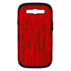 Decorative Red Pattern Samsung Galaxy S Iii Hardshell Case (pc+silicone) by Valentinaart