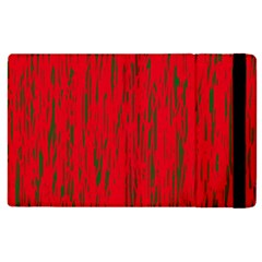 Decorative Red Pattern Apple Ipad 2 Flip Case by Valentinaart
