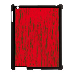 Decorative Red Pattern Apple Ipad 3/4 Case (black) by Valentinaart