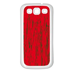 Decorative Red Pattern Samsung Galaxy S3 Back Case (white) by Valentinaart
