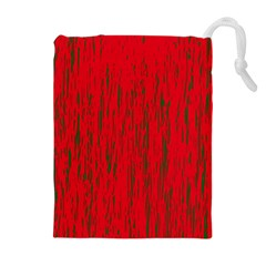 Decorative Red Pattern Drawstring Pouches (extra Large) by Valentinaart