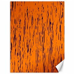 Orange Pattern Canvas 36  X 48   by Valentinaart