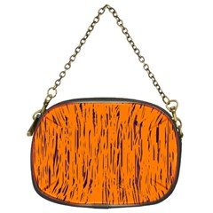 Orange Pattern Chain Purses (two Sides)  by Valentinaart