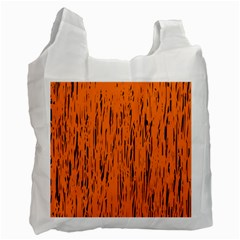 Orange Pattern Recycle Bag (two Side)  by Valentinaart
