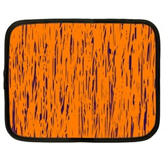 Orange Pattern Netbook Case (xl)  by Valentinaart