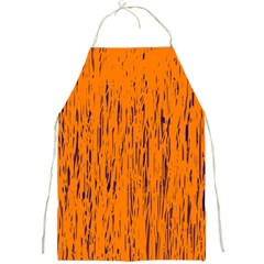 Orange Pattern Full Print Aprons by Valentinaart