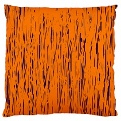 Orange Pattern Standard Flano Cushion Case (two Sides) by Valentinaart