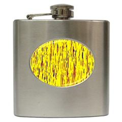 Yellow Pattern Hip Flask (6 Oz) by Valentinaart