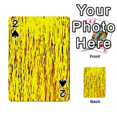 Yellow Pattern Playing Cards 54 Designs