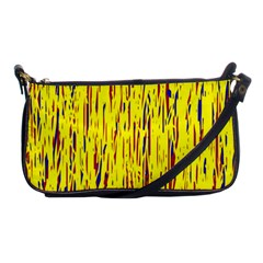 Yellow Pattern Shoulder Clutch Bags by Valentinaart