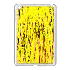 Yellow Pattern Apple Ipad Mini Case (white) by Valentinaart