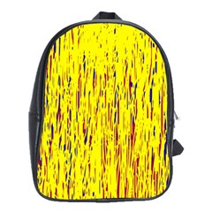 Yellow Pattern School Bags (xl)  by Valentinaart