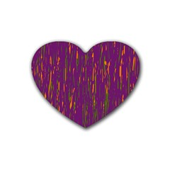 Purple Pattern Heart Coaster (4 Pack)  by Valentinaart