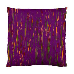 Purple Pattern Standard Cushion Case (two Sides) by Valentinaart