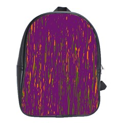 Purple Pattern School Bags(large)  by Valentinaart