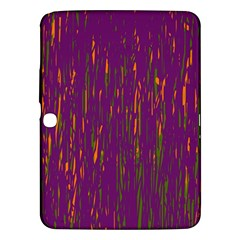 Purple Pattern Samsung Galaxy Tab 3 (10 1 ) P5200 Hardshell Case  by Valentinaart