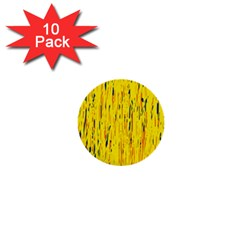 Yellow Pattern 1  Mini Buttons (10 Pack)  by Valentinaart