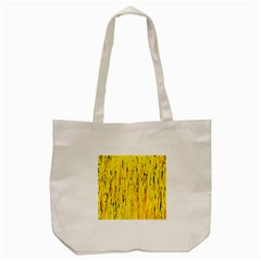 Yellow Pattern Tote Bag (cream) by Valentinaart