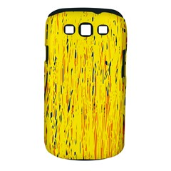 Yellow Pattern Samsung Galaxy S Iii Classic Hardshell Case (pc+silicone) by Valentinaart