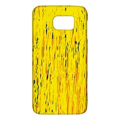 Yellow Pattern Galaxy S6 by Valentinaart