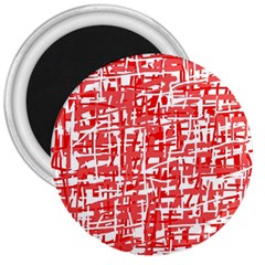 Red Decorative Pattern 3  Magnets by Valentinaart
