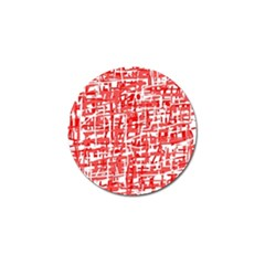 Red Decorative Pattern Golf Ball Marker by Valentinaart