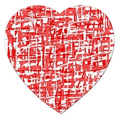 Red Decorative Pattern Jigsaw Puzzle (heart) by Valentinaart