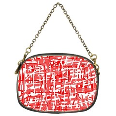 Red Decorative Pattern Chain Purses (two Sides)  by Valentinaart