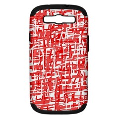 Red Decorative Pattern Samsung Galaxy S Iii Hardshell Case (pc+silicone) by Valentinaart