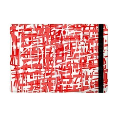 Red Decorative Pattern Apple Ipad Mini Flip Case by Valentinaart